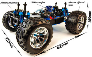 Bug Crusher Pro Nitro radiografisch bestuurbare Monster Truck Version