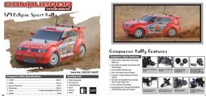 GS racing mitsubishi pajero conqueror nitro rally rc truck
