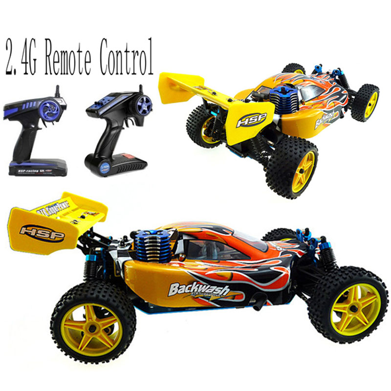 HSP 1/10 Scale Models Nitro Gas Power 4wd Rc Car Toy Two