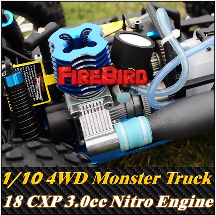 Hsp Rc Truck Nitro Gas Power Off Road Monster Truck 94188: HSP BISON GP2 1/10 Scale 3.0cc Nitro Gas Power 4WD Off