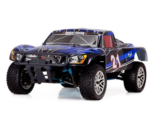 Redcat Racing Vortex SS Desert Nitro Truck, Black/Blue, 1/10 Scale